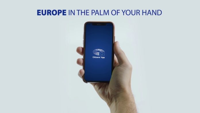 An app developed by the European Parliament
